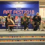 Eminent artist at Art Fest 2018 in Shiv Nadar School Faridabad