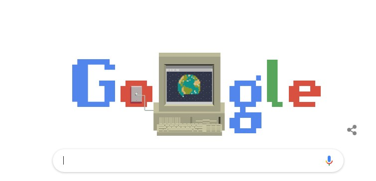 World Wide Web's 30th Birthday celebrated through a Google Doodle