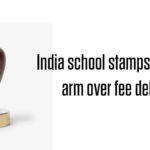 School stamps boy's hand over late fee payment