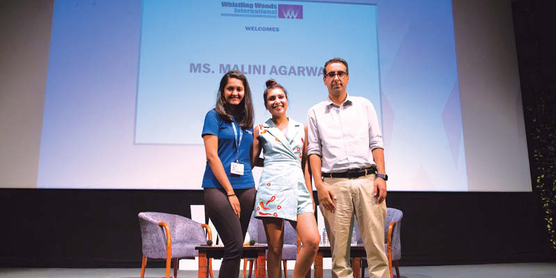 Masterclass by Malini Agarwal at Whistling Woods International