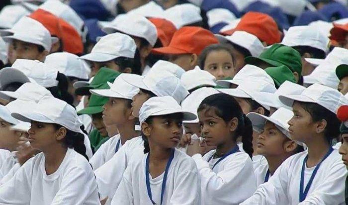 Children collect waste
