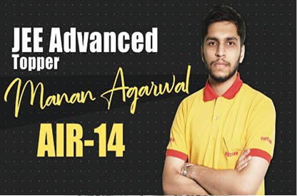 JEE Advanced Topper Manan Agarwal