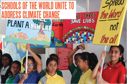 Schools of the world unite to Addredd Climate Change