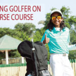 Young golfer on Course Course