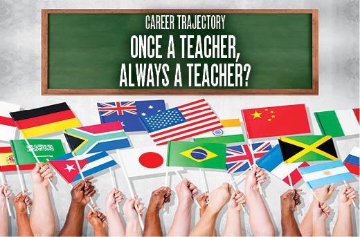 CAREER TRAJECTORY ONCE A TEACHER, ALWAYS A TEACHER